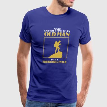 Old Man Trekking - Men's Premium T-Shirt