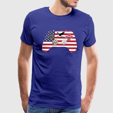 Untied States of America Xbox One controller - Men's Premium T-Shirt