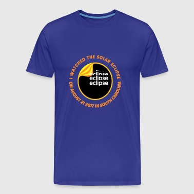 Solar Eclipse on August 21 2017 In South Carolina - Men's Premium T-Shirt