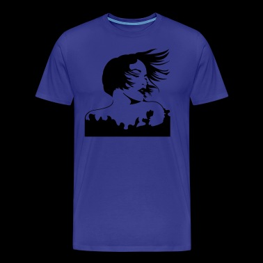 Beautiful Woman Silhouette - Men's Premium T-Shirt