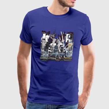 HEWGE HEW THE JEW FAMILY ON BIKE SKETCH FULL PIECE - Men's Premium T-Shirt