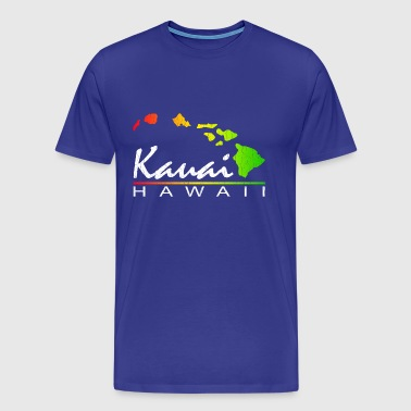 KAUAI  Hawaii (Distressed Design) - Men's Premium T-Shirt