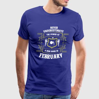 Born. February. Zodiac. Aquarius - Men's Premium T-Shirt