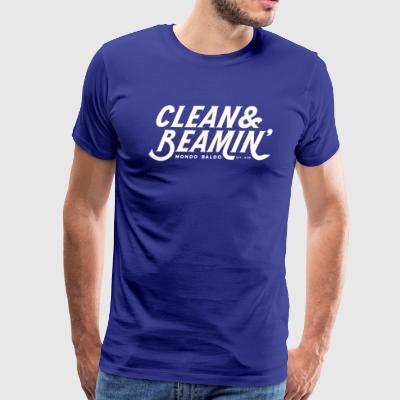 Clean & Beamin' - for the Bald & Proud® - Men's Premium T-Shirt