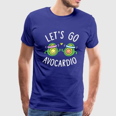 Let's Go Avocardio | Cute Avocado Pun - Men's Premium T-Shirt