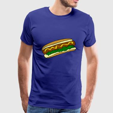 hotdog hot dog sausages fast food fastfood7 - Men's Premium T-Shirt