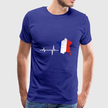 Heartbeat France french gift - Men's Premium T-Shirt