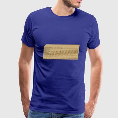 punched card2 - Men's Premium T-Shirt