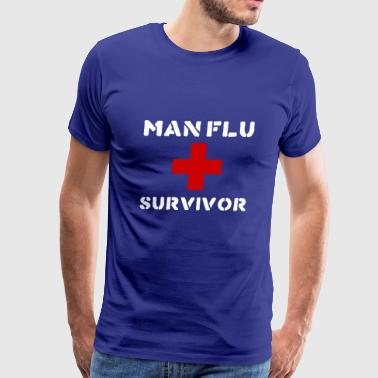 MAN FLU SURVIVOR - Men's Premium T-Shirt