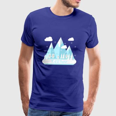 Let It Snow.Bears.Mountains.Snowflakes.Nature.SALE - Men's Premium T-Shirt