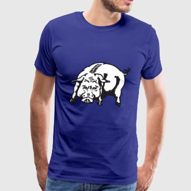 Angry Pig Animal Hog Piggy Mammal 45976 - Men's Premium T-Shirt