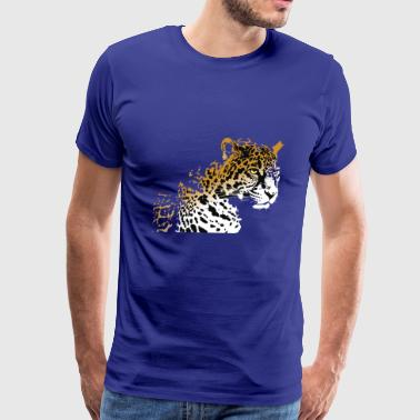 Jaguar panther animal wildlife vector image funny - Men's Premium T-Shirt