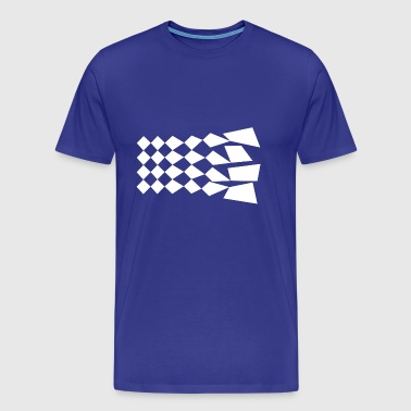 Abstract Chessboard - Men's Premium T-Shirt