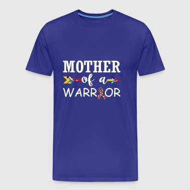 Mother Of A Warrior Autism Awareness - Men's Premium T-Shirt