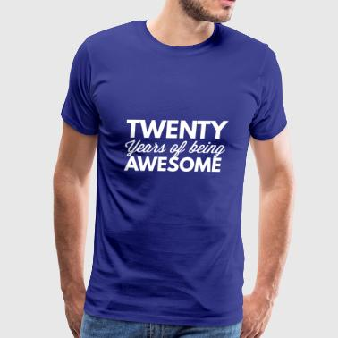 20 years of being awesome - Men's Premium T-Shirt