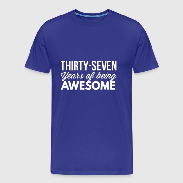 37 years of being awesome - Men's Premium T-Shirt