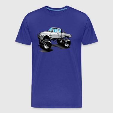 Lifted 4x4 Ford Truck - Men's Premium T-Shirt