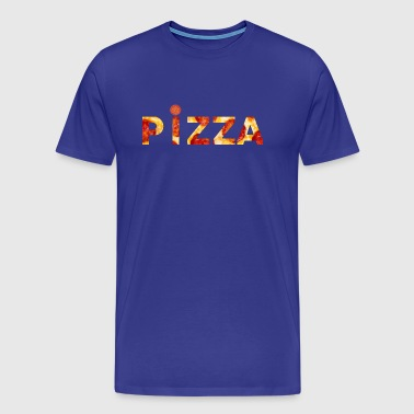 Pizza Shirt Block Letters - Men's Premium T-Shirt