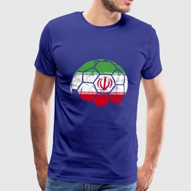 Iran Soccer Football Ball - Men's Premium T-Shirt