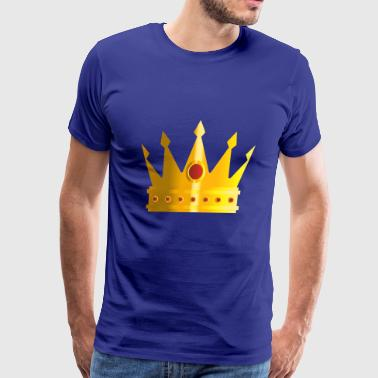 Golden crown monarch king rap vip vector image art - Men's Premium T-Shirt