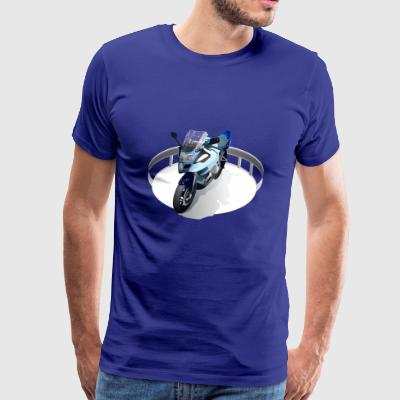 With Motorcycle - Men's Premium T-Shirt