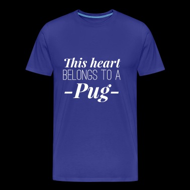 Pug heart - Men's Premium T-Shirt