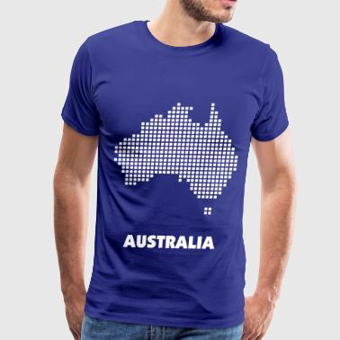 Australia pixel map - Men's Premium T-Shirt