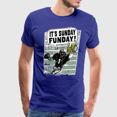 Sunday Funday Beer and Football - Men's Premium T-Shirt