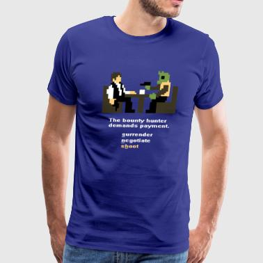 Han and Greedo 8-Bit - Men's Premium T-Shirt