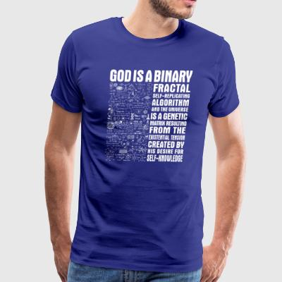 God is a binary, fractal, self-replicating - Men's Premium T-Shirt