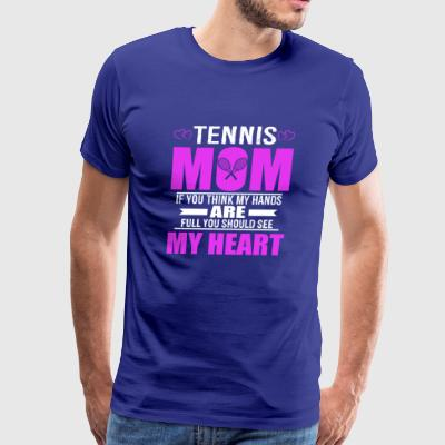 Tennis Moms Full Heart Mothers Day T-Shirt - Men's Premium T-Shirt