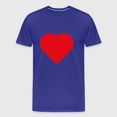 Love Heart symbol - Men's Premium T-Shirt