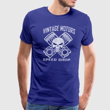 Piston Vintage Motors Speed Shop - Men's Premium T-Shirt