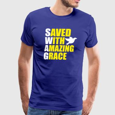 Saved Wit Amazing Grace - Men's Premium T-Shirt