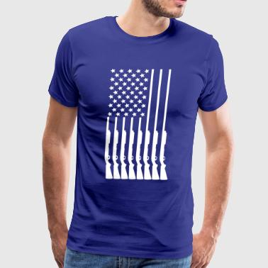 Gun Flag Tee Shirt - Men's Premium T-Shirt