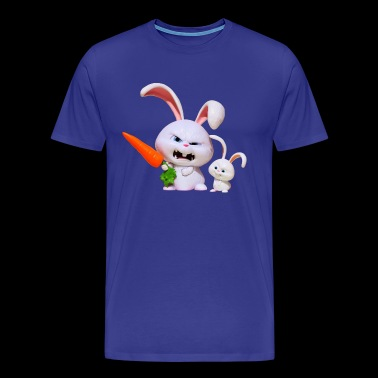 angry rabbit - Men's Premium T-Shirt