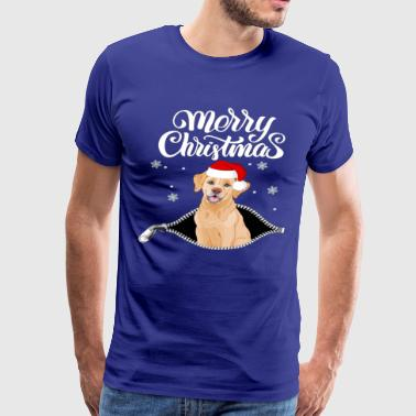 Golden Retriever Santa Merry Christmas 2018 - Men's Premium T-Shirt