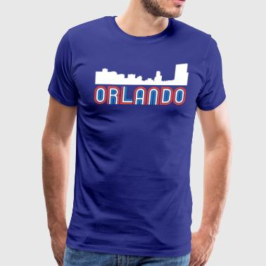 Red White Blue Orlando Florida Skyline - Men's Premium T-Shirt