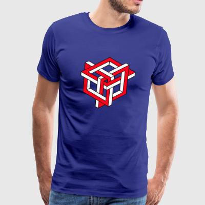 Squares Optical Illusion funny tshirt - Men's Premium T-Shirt