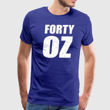 Forty Ounce Sports Team Uniform Logo - Men's Premium T-Shirt