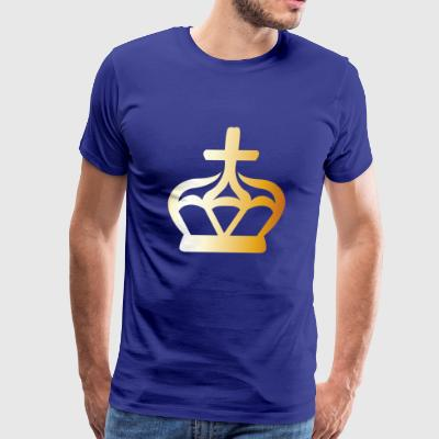 King prince gold VIP crovn cool lable vector image - Men's Premium T-Shirt