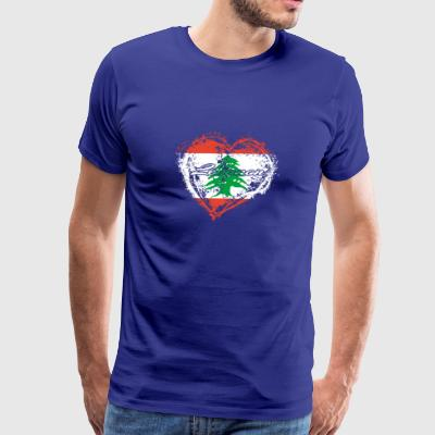 HOME ROOTS COUNTRY GIFT LOVE Lebanon - Men's Premium T-Shirt