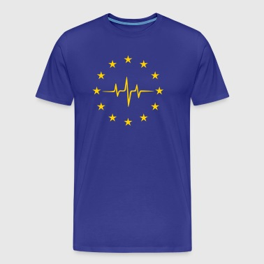 Pulse of Europe, EU Frequency, European Union Flag - Men's Premium T-Shirt