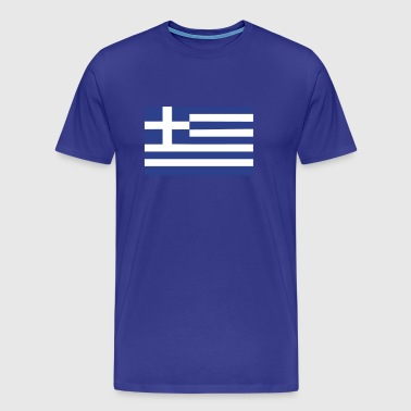greek greece flag - Men's Premium T-Shirt