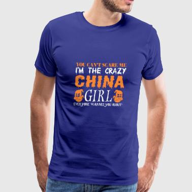 You Cant Scare Me Crazy China Girl Halloween - Men's Premium T-Shirt