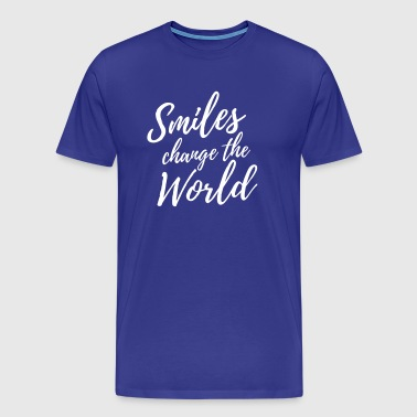 Smiles Change the World - Men's Premium T-Shirt
