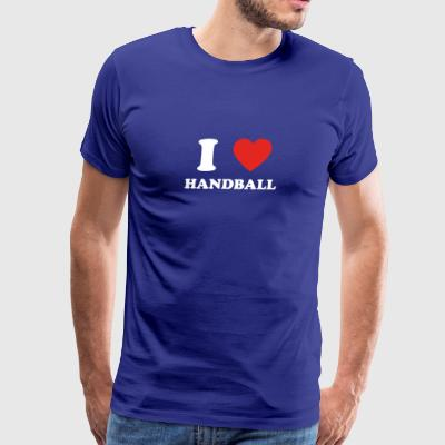 hobby gift birthday i love HANDBALL - Men's Premium T-Shirt