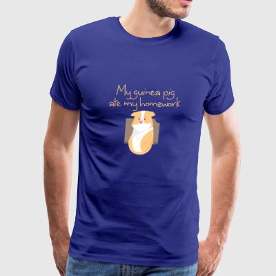 My guinea pig ate my homework - Men's Premium T-Shirt