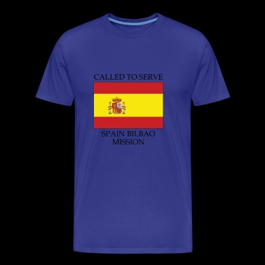 Spain Bilbao LDS Mission Called to Serve Flag - Men's Premium T-Shirt