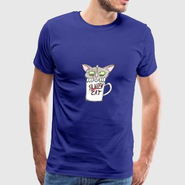 Fluffy Cat In a Cup - Men's Premium T-Shirt